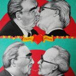 Breschnew, Honecker, East-Side-Gallery